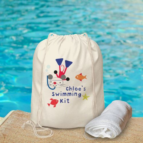 Personalised Arty Mouse Swimming Bag